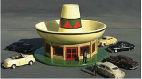 Bachmann Sombrero Restaurant N Scale Model Railroad Building #35254