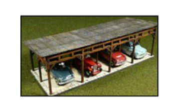 Laser Cut Car Shed Kit Ho Scale Model Railroad Building 39102 By