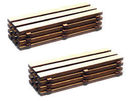 Bachmann Timber Loads (2) HO Scale Model Railroad Building Accessory #39107