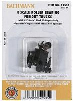 Bachmann Roller Bearing Freight Trucks No Wheels (12pr) N Scale Model Train Truck #42535