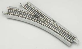 Bachmann E-Z Command N/S Left Turnout HO Scale Nickel Silver Model Train Track #44130