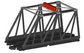 Bachmann E-Z Track Truss Bridge with Blinking Light HO Scale Model Railroad Bridge #44473