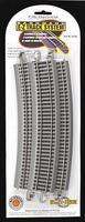 Bachmann 28 Radius Curve N/S (5) HO Scale Nickel Silver Model Train Track #44506