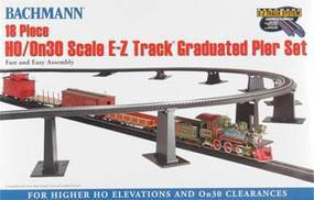 Bachmann EZ Graduated Pier Set 18pc HO/On30 HO Scale Model Railroad Operating Accessory #44595
