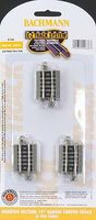 Bachmann Quarter Section 19 Radius Curve (6) N Scale Nickel Silver Model Train Track #44836