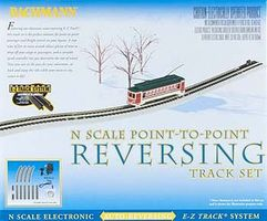 Bachmann N/S E-Z Track Auto-Reversing System N Scale Nickel Silver Model Train Track #44847