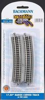 Bachmann E-Z 17.5 Radius Curve NS(6) N Scale Nickel Silver Model Train Track #44855