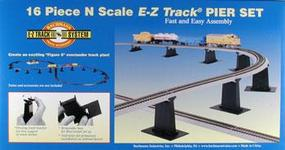 Bachmann E-Z Pier 16 Piece Set N Scale Model Railroad Bridge #44871