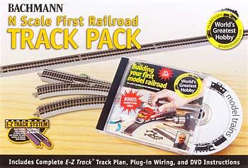Bachmann World's Greatest Hobby Track Pack NS -- N Scale Nickel Silver Model Train Track -- #44896
