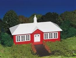 Bachmann School House Kit HO Scale Model Railroad Building #45133