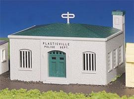 Bachmann Police Station Kit HO Scale Model Railroad Building #45145