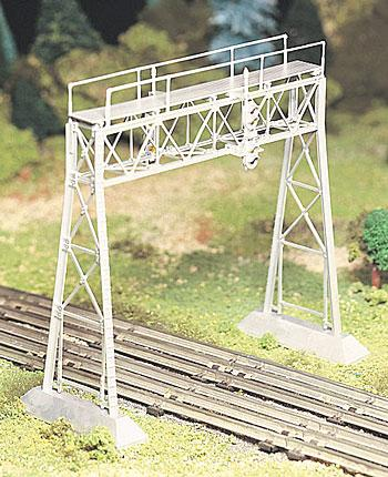Bachmann Plasticville U.S.A. Pre Built Signal Bridge -- O Scale Model Railroad Trackside Structure -- #45309