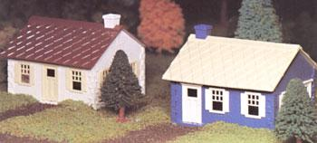 Bachmann Cape Cod House Snap Kit (2) -- O Scale Model Railroad Building -- #45608