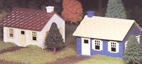 Bachmann Cape Cod House Snap Kit (2) O Scale Model Railroad Building #45608