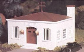 Bachmann Police Station w/Car Snap Kit O Scale Model Railroad Building #45609