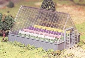 Bachmann Greenhouse w/Flowers Snap Kit O Scale Model Railroad Building #45615