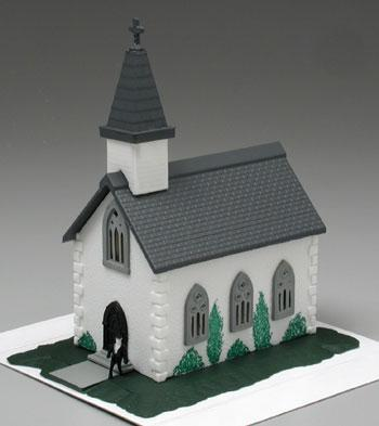 Bachmann Country Church Built-Up -- N Scale Model Railroad Building -- #45815
