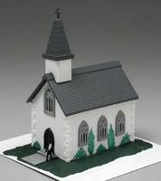 Bachmann Country Church Built-Up N Scale Model Railroad Building #45815