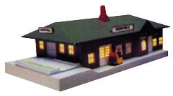 Bachmann Sunnyvale Passenger Station Built-Up -- N Scale Model Railroad Building -- #45908