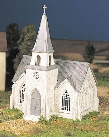 Bachmann Cathedral Kit Snap -- O Scale Model Railroad Building -- #45981