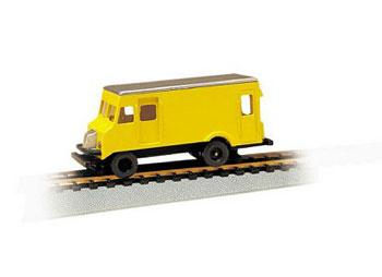 Bachmann Maintenance of Way High Railer Rail Detector Step Van -- HO Scale Trolley and Hand Car -- #46204
