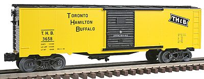 Bachmann 40' Steel Boxcar - 3-Rail Toronto, Hamilton & Buffalo -- O Scale Model Train Freight Car -- #47071