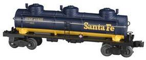 Bachmann 3-Dome Tank Santa Fe O Scale Model Train Freight Car #47105