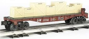 Bachmann 40 Flatcar w/Crate Load Louisville/Nashville O Scale Model Train Freight Car #47555