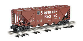 Bachmann 4-Bay Covered Hopper - 3-Rail Southern Pacific O Scale Model Train Freight Car #47623
