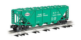 Bachmann 4-Bay Covered Hopper - 3-Rail New York Central O Scale Model Train Freight Car #47624