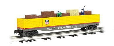 Bachmann Operating Cop/Robber Car Union Pacific -- O Scale Model Train Freight Car -- #47902