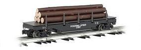 Bachmann Operating Log Dump Car Pickering Lumber Co. O Scale Model Train Freight Car #47926