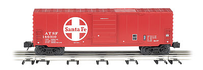 Bachmann Operating Boxcar - 3-Rail Santa Fe -- O Scale Model Train Freight Car -- #47977