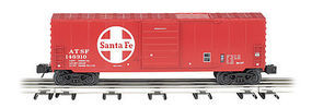 Bachmann Operating Boxcar - 3-Rail Santa Fe O Scale Model Train Freight Car #47977