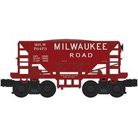 Bachmann 70-Ton Ore Car - 3-Rail Ready to Run - Williams Milwaukee Road - O-Scale