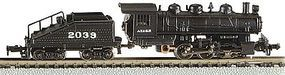 Bachmann 0-6-0 Switcher/Tender ATSF #2039 N Scale Model Train Steam Locomotive #50566