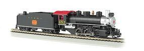 Bachmann USRA 0-6-0 w/Short-Haul Tender N,C,& St Louis HO Scale Model Train Steam Locomotive #50616