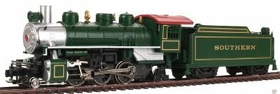 Bachmann Prairie 2-6-2 with Tender Southern Green -- HO Scale Model Train Steam Locomotive -- #51504