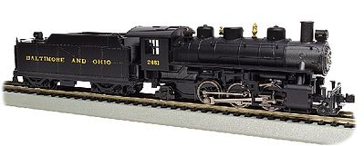 Bachmann Prairie 2-6-2 Loco w/Smoke & Tender B&O -- HO Scale Model Train Steam Locomotive -- #51527