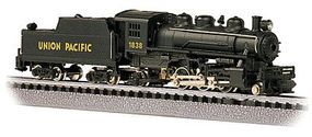 Bachmann Prairie 2-6-2 with Tender Union Pacific #1838 N Scale Model Train Steam Locomotive #51571