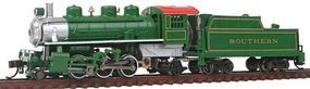 Bachmann Prairie 2-6-2 with Tender Southern Green N Scale Model Train Steam Locomotive #51572