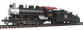 Bachmann USRA 0-6-0 Slope Tender Burlington #233 HO Scale Model Train Steam Locomotive #51607