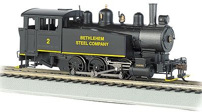 Bachmann 0-6-0 Porter Side Tank Steam Bethlehem Steel #2 -- HO Scale Model Train Steam Locomotive -- #52101