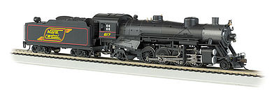 Bachmann Maine Central #617 Light 2-8-2 w/Med. Tender -- HO Scale Model Train Steam Locomotive -- #54305