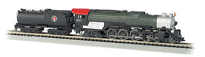 Bachmann 4-8-4 w/Light 52' Tender Great Northern #2571 -- N Scale Model Train Steam Locomotive -- #58154