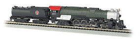 Bachmann 4-8-4 w/Light 52 Tender Great Northern #2571 N Scale Model Train Steam Locomotive #58154