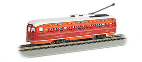 Bachmann PCC Streetcar w/DCC, Sound & Sparking Trolley Pole Pacific Electric (red, orange)