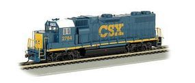 Bachmann GP38-2 8-Wheel CSX #2784 (Dark Future) HO Scale Model Train Diesel Locomotive #61714