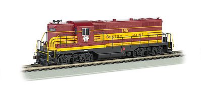 Bachmann GP7 Boston & Maine #1567 (Maroon) with DCC -- HO Scale Model Train Diesel Locomotive -- #62418