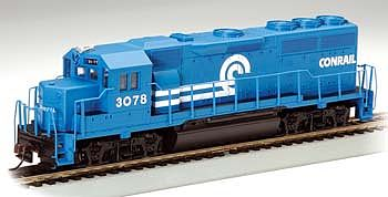 Bachmann EMD GP40 Conrail #3078 -- HO Scale Model Train Diesel Locomotive -- #63516